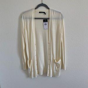 BNWT Ralph Lauren ivory cardigan size small!